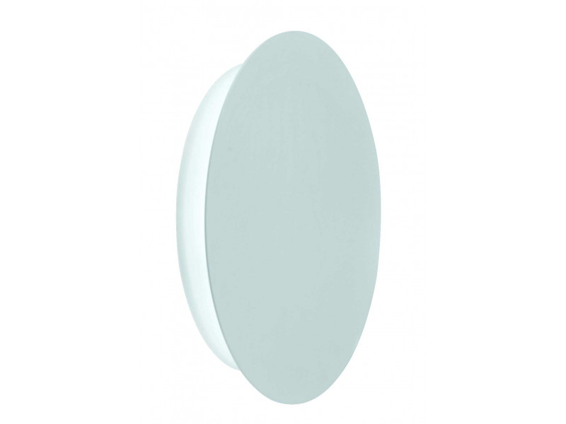 Wall light in shape of circle in white with led  light source