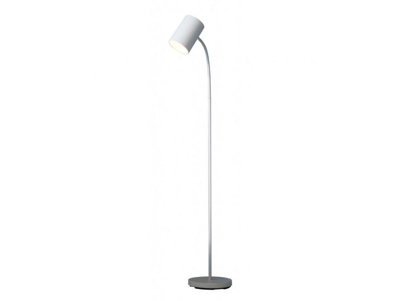 Metal floor lamp minimal in white.
