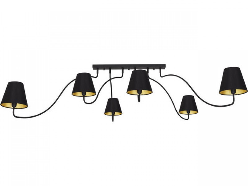 Ceiling lamp in modern design with 6 lampshades.