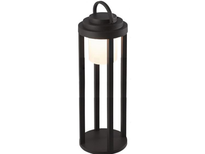 Aluminium lighting fixture in black with PC and rechargeable mini USB.