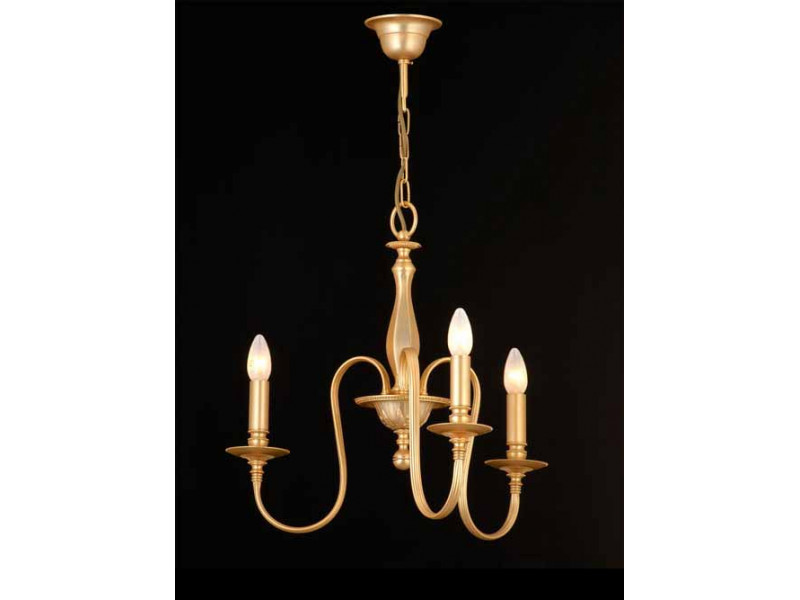 Pendant brass cast with striped tube in matt gold.