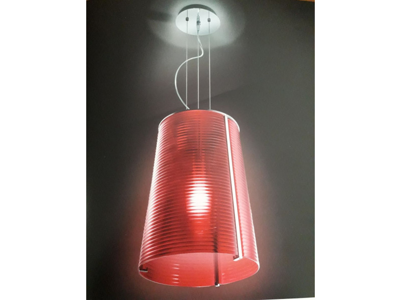 PENDANT 900700 WITH BLOWN RED GLASS