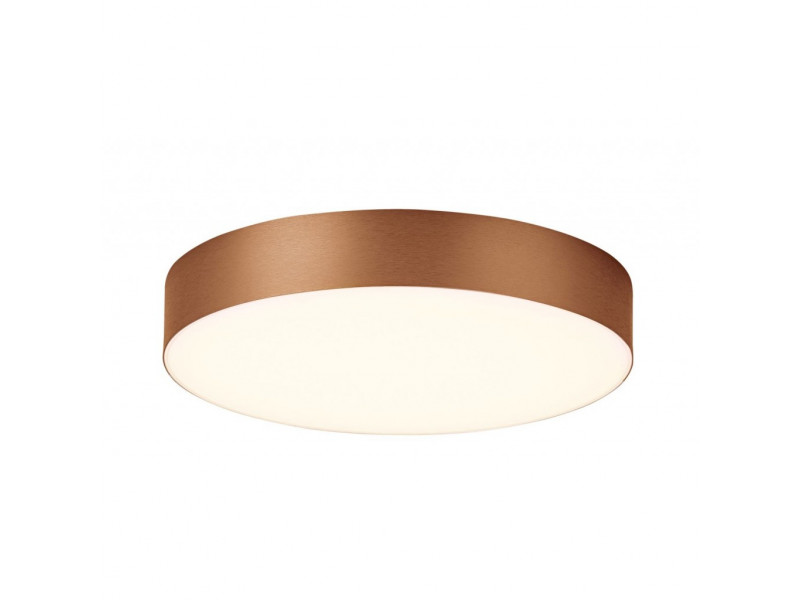 Led lighting fixture in brushed golden and coffee color.
