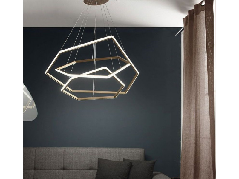 Pendant in three levels with Led .